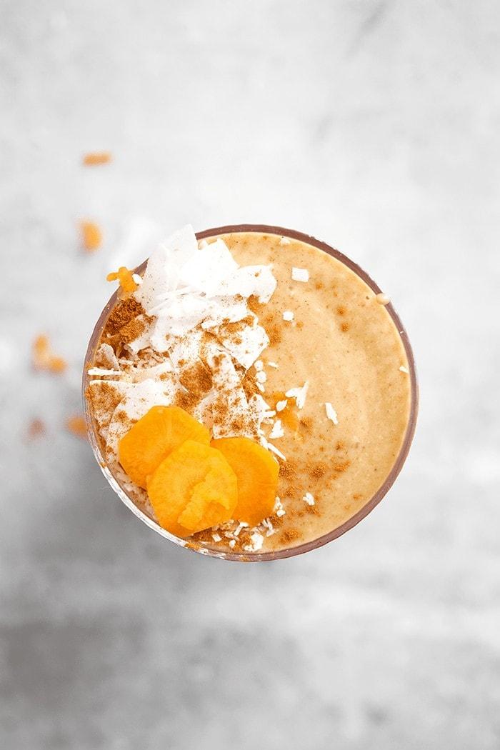 smoothie carrot cake vegan