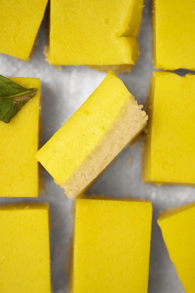 Barres au citron vegan et sans gluten
